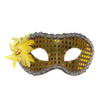 Golden carnival mask isolated Royalty Free Stock Photos