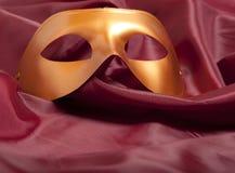 Golden carnival mask Royalty Free Stock Image
