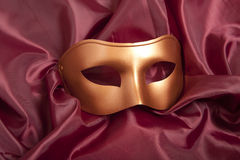 Golden carnival mask Royalty Free Stock Photos