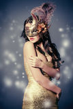 Golden carnival Royalty Free Stock Photography