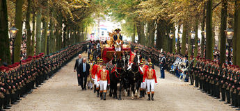 Golden carriage Royalty Free Stock Photography