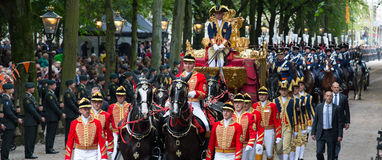 Golden carriage Royalty Free Stock Images