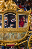 Golden carriage Stock Image