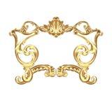 Golden cartouche Royalty Free Stock Photos