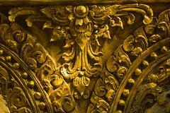 Golden carve royalty free stock images