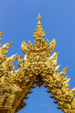 Golden carve texture of buddhism religion Royalty Free Stock Photo