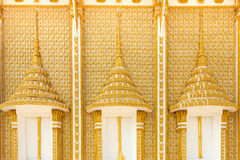 Golden carve window in temple Royalty Free Stock Images