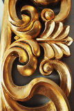 Golden carved pattern Stock Photos