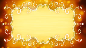 Golden casino banner Royalty Free Stock Image