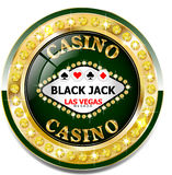 Golden casino banner with brilliants. Vector Golden casino banner with brilliants Stock Photos