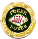 Golden casino banner with brilliants. Vector Golden casino banner with brilliants Royalty Free Stock Photos
