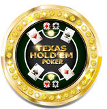 Golden casino banner with brilliants. Vector Golden casino banner with brilliants Stock Photography