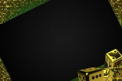 Golden Casino Dices Backdrop Royalty Free Stock Image