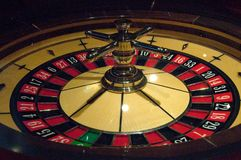 The dynamic roulette in casino Royalty Free Stock Photography