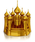 Golden castle Stock Photography