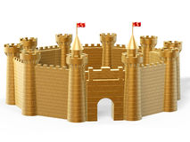 Golden castle Royalty Free Stock Photography