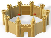 Golden castle Stock Photos