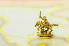 Golden Cavalry Model Stock Photography
