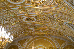 Golden ceiling.. Royalty Free Stock Photo