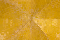 Golden ceiling pattern background.seamless tile. Royalty Free Stock Photography