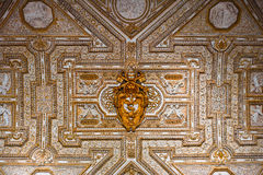 Golden Ceiling of Saint Peter's Basilica Royalty Free Stock Images