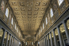 Golden ceiling of Santa Maria Maggiore, Rome Royalty Free Stock Images