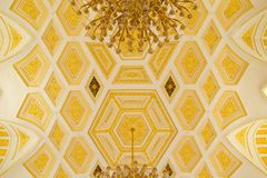 Golden ceiling of State historical and architectural museum reserve Tsaritsyno Stock Photo