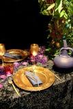 Golden celebration Stock Photos