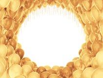 Golden celebration balloons Royalty Free Stock Photography
