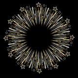 Golden celebration fireworks Royalty Free Stock Image