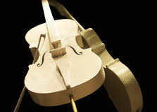 Golden cellos Stock Images