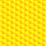 Golden  cells of a honeycomb pattern Stock Photo