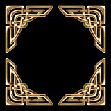 Golden celtic corners Royalty Free Stock Image
