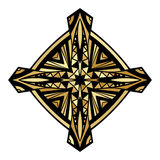 Golden Celtic Cross Label Royalty Free Stock Image