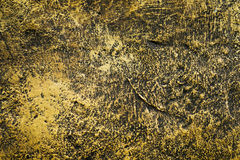 Golden cement wall textured Stock Images