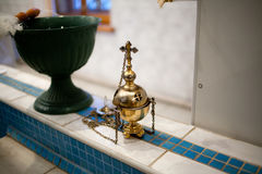 Golden censer in the church Stock Photography