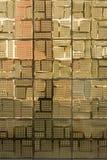 Golden ceramic tiles Stock Images