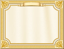 Golden certificate Stock Images