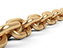 Golden chain. Royalty Free Stock Photography