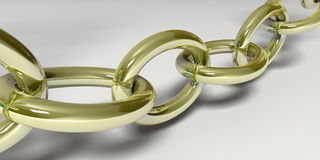 Golden chain Stock Photo