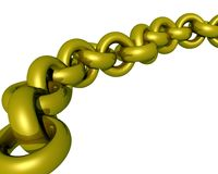 A golden chain Stock Images