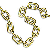 Golden chain. A very shiny golden chain Royalty Free Stock Photos