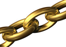 Golden chain. On a white background Stock Photography