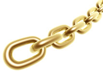 Golden chain Stock Photo