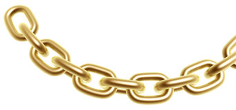 Golden chain Stock Image