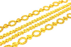 Golden Chain Royalty Free Stock Images