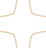 Golden Chain of Abstract Shape Royalty Free Stock Images