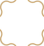 Golden Chain of Abstract Shape Royalty Free Stock Photos