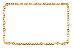 Golden chain as frame Royalty Free Stock Photography