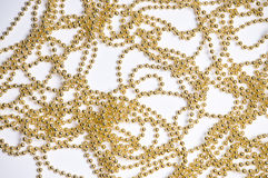 Golden chain background Stock Photos